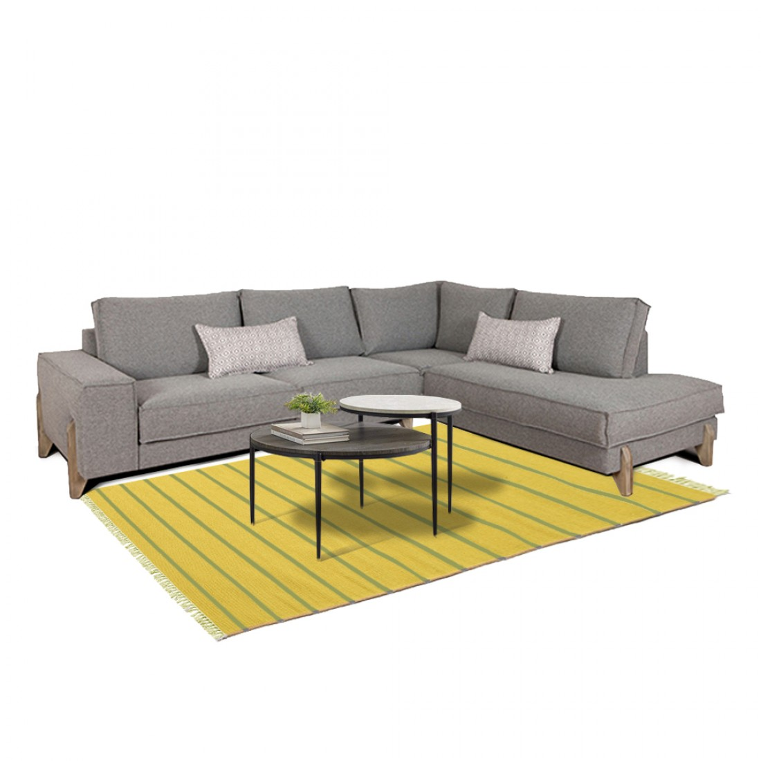 Καναπές γωνία Smooth